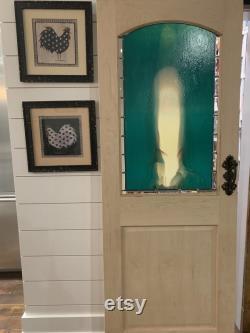 Deep Teal and Cream Pantry Door