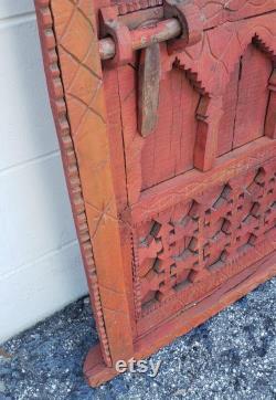 Distressed Moroccan Burgundy Door Gate Shutter