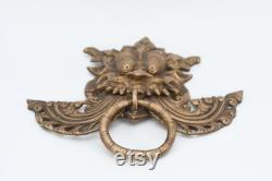 Door Knocker Antique Tibetan vintage Victorian Figure Animal Headed knob Vintage