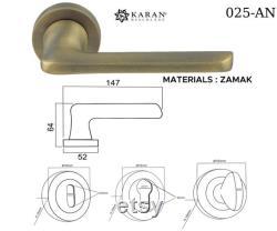 Door handles Chrome Gold Sat n Anthracite Zamak Brass KARAN BESCHLÄGE
