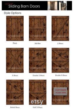Double Hexagon White Barn Door customize your size