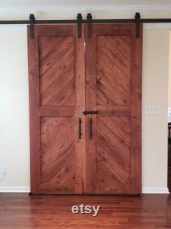 Double White Oak Barn Doors or Hinged Doors
