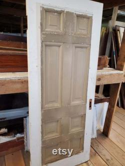 Eight Panel Door, Salvaged Door, Burnham Mansion, Large Antique Door, Tall Antique Door, 32 Inch Door, Reclaimed Door, Architecture Salvage