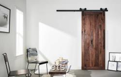 FREE SHIPPING Custom Vertical Walnut Solid Wood Barn Door