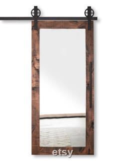 FREE SHIPPING Modern Mirrored Barn Door