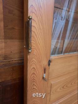 Farmhouse Door, 35 Antique Door, Half Glass Door, Victorian Glass Door, Entry Door Way, Antique Wood Door, Antique Glass Door Salvaged Door