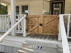Farmhouse Porch Gate, Barn Door Baby Gate, Barn Door dog gate