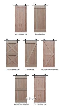 Farmhouse Sliding Barn Door or Double Doors up to 40 Wide