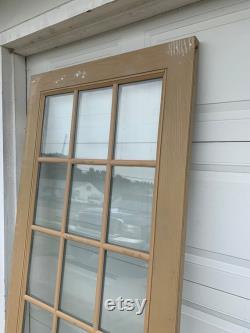 Full Glass Lite Distinction Exterior Door, 15 Pane, Replacement, Reclaimed, Renovation 35.75 x 79.25 x 1.75 DA39