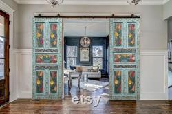 Hand Carved Farmhouse Barn Door, Custom Size Double or Single Sliding Doors, Patio Door, Pocket Door, Headboard, Dining Table, Wall Decor