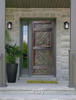 Hand Carved Rustic Barn Door, Custom Size Exterior Front Door, Sliding interior Doors, Coffee Table, Dining Table, Headboard, Wall Art Decor
