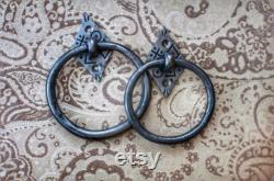 Hand Forged Door Knocker, Blacksmith Country Home Hardware, Virgin Iron, Housewarming Gift, Entryway Home Decor, Wrought Iron, African Style