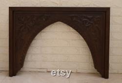 Handcarved Moroccan Wood Door Arch, Arabian Wooden Arch, Moroccan Door, Door Decor