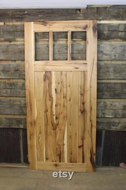 Hickory Mission Style Barn Door Room Dividers, made from Reclaimed Hickory Barnwood, 30 36 and 48 Widths and Custom Sizes, Made to Order