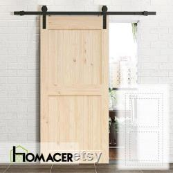 Homacer 5-in-1 Pine Wood Frame Barn Door without Installation Hardware Kit