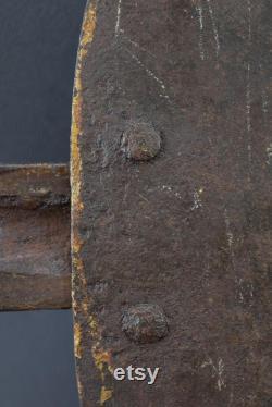 LARGE Antique Forged Iron Door Slide Latch Lock Bolt