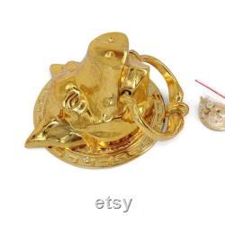 Large Heavy Stunning Pig Head shape Ring Door Knocker Solid Brass Door Banger 14 cm 5.1 2 inch cast