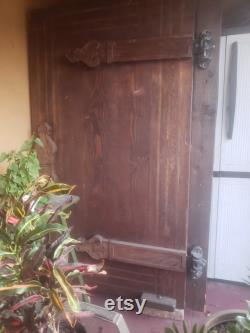 Large, wooden door from the 1930s Hollywood Restaurant