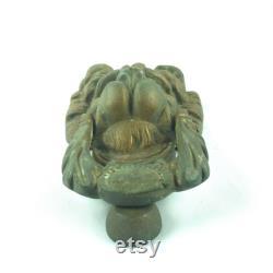 Lion Head Door Knocker Brass