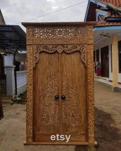 Made to Order 270x180cm Hand Carved Teak Wood Door Solid Teak Doors Vintage Temple Teak Doors Direct from Middle Java, Indonesia