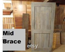 Mid-Bar Brace Barn Door Room Divider, Circle Sawn, Made to Order, Many Sizes