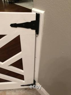 Modern Baby Gate Pet Gate with Heavy Duty Hinges and Latch Custom to Your Hallway, Entryway or Stairs 39 Shown