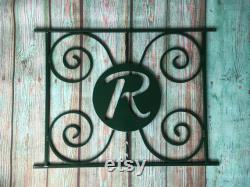 Monogram Design, Screen Door Grille, Protect and Beautify , Easy Install, Handcrafted, Many Colors, Aluminum, Custom sizes, Initial, Letter