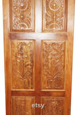 OLd World Antique Doors, Artisan Carved Barndoor, Teak Wood Panels, Rustic Farmhouse Doors, Architectural Design, PAIR 96x36 EACH