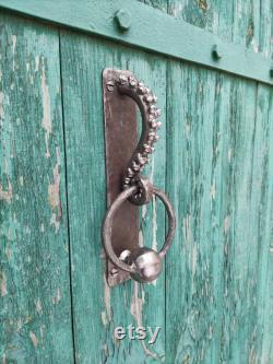 Octopus tentacle iron door knocker