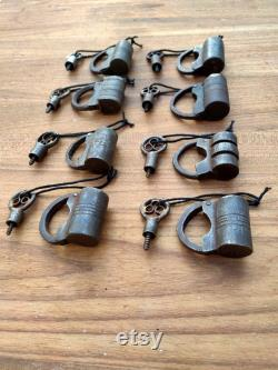 Old Iron Handcrafted Padlock Antique Iron Padlocks Iron lock and key Iron padlocks Indian locks and keys Screw System locks 8 Pieces