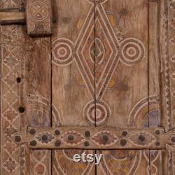 Old Moroccan Doors, Home Decor, Home Door, 33.1 Inch x 55.5 Inch x 2.4 Inch, Free Shipping