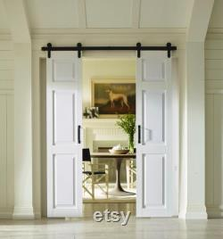 PVC 6 PanelSliding Split (Double) Barn Doors 42 x84 White