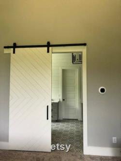 Painted Simple Chevron Barn Door