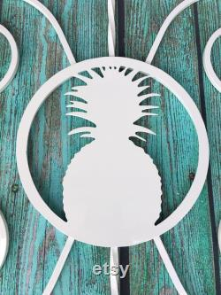 Pineapple Design, Screen Door Grille, Protect and Beautify your door, Easy Installation, Handcrafted, Powder Coated, Aluminum, Custom sizes