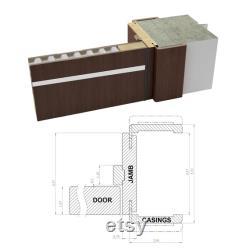 Planum 0020 Interior Modern Flush Solid Wood Pre-Hung Door Matte White with Trims Frame Lever Bedroom Bathroom Doors