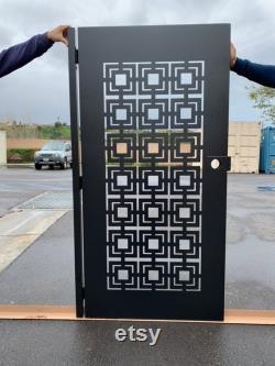 Privacy metal gate,Modern Metal Gate , Custom Art Pedestrian Walk Thru Entry Iron Steel Garden Designer
