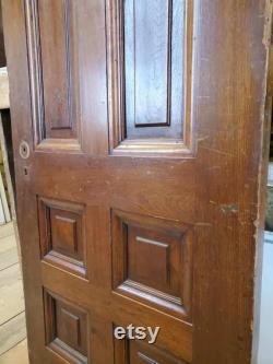 Raised Panel Door, Salvaged Door, Burnham Mansion, Large Antique Door, Tall Antique Door, 32 Inch Door, Reclaimed Door, Architecture Salvage