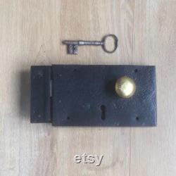 Restored Georgian 10 x 6 Front Door Lock of C.1810