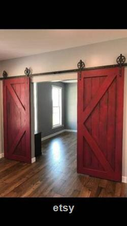 Rustic Colonial Sliding Double Doors