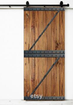 Rustic barn gate complet with sliding sliding door system