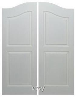 Saloon Doors Cafe Doors Primed Fits Any 30 (2'6 ), 32 (2'8 ) or 36 (3') Door Opening x 42 Tall Includes All Hardware