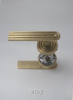 Satin nickel door lever I chrome door handles I Passage door nickel hardware I chrome passage door lever I designed by MiandGei