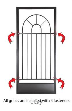 Screen Door Grille, Cordova Style, Handmade, Decorative, Protective, Aluminum, from The Old Florida Collection