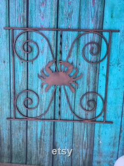 Screen Door Grille, Crab design, Handcrafted, Metal, Powder Coat your color choice, Protect, Beautify, Easy Install, Aluminum