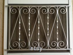 Screen Door Grille, Hunter Green, Vintage Inspired Scroll Design, Hearts Style, Protective, Aluminum, Custom size more colors avail
