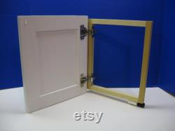 Shaker Style Laundry Chute Door Painted White for tstearn20
