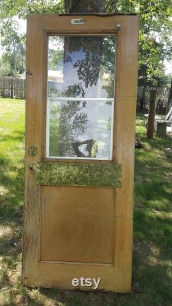 Shipping overages for Robin Antique Wood Door, Exterior Door with Window and Screen, Architectural Salvage, Cabin or Garage Door