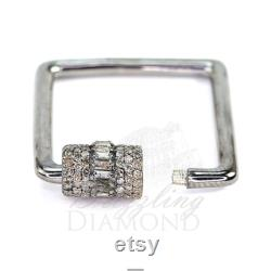 Single Cut Natural Diamond Link Lock,925 Silver Lock Connector,Diamond Clasp,Sterling Silver Clasp,Jewelry findings,Jewelry Making Lock.