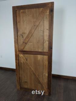 Single Panel Barn Door Reclaimed Wood Brown