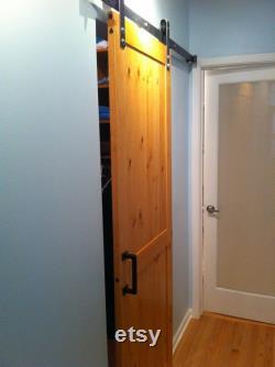 Sliding Barn Door Kit DIY Build Pine Sliding Door, Modern Industrial Rustic or Modern Finishes Available Custom Sizes Upon Request